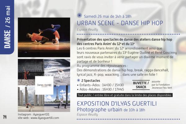 affiche de l'expo cultures urbaines en 2017